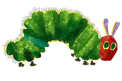 """The Very Hungry Caterpillar Iron On Transfer, 4x7.5"""" for LIGHT Colored Fabric"""