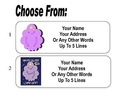 30 Lumpy Space Princess (Adventure Time) Personalized Address Labels