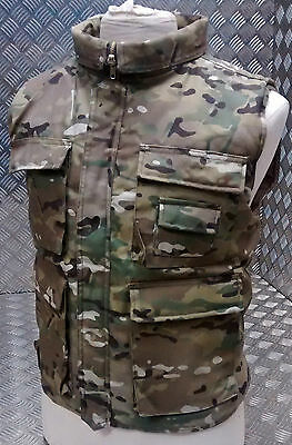 Hunters Action Vest Multi Camo Tactical Spec Fishing Body Warmer All Sizes - NEW