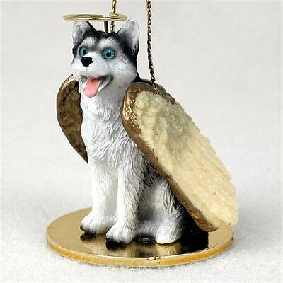Husky Angel Ornament Figurine
