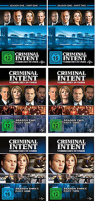 19 DVDs * CRIMINAL INTENT - SEASON /STAFFEL 1 - 3 (1.1 - 3.2) IM SET # NEU OVP +