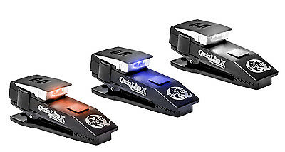 Quiqlite X  USB Rechargeable dual LED mini torch white blue and red