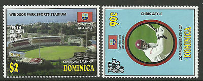 DOMINICA 2011 ICC 10th CRICKET WORLD CUP Chris Gayle Set 2v MNH