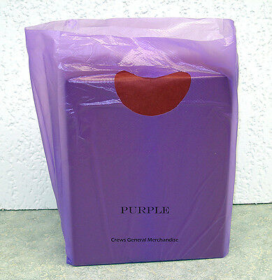 "100 PURPLE Plastic Merchandise Shopping Bags 7""x3""x12"""