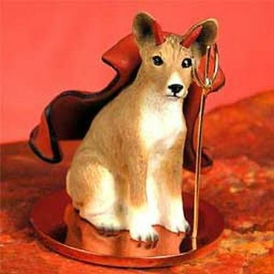 BASENJI Devil Dog Tiny One Figurine Statue