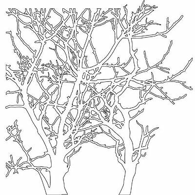 Crafters Workshop STENCIL SHEET 6 x 6 TREE BRANCHES Paper Crafts