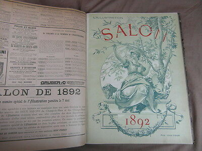 REVUE L ILLUSTRATION / RELIURE 1er SEMESTRE 1892 + No SALON et 2563 PIERRE LOTI