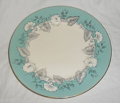 "VINTAGE MYOTT MORNING GLORY 10"" DINNER PLATE TURQUOISE BLACK ENGLAND ANTIQUE"
