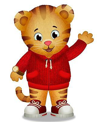 """Daniel Tiger Iron On Transfer 4.75"""" x 6.5"""" for LIGHT Colored Fabric"""