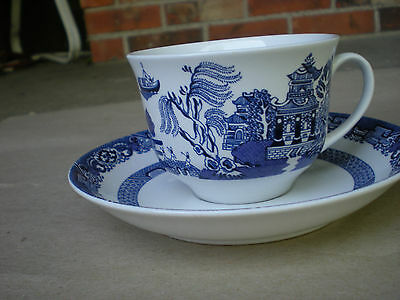 Royal Cuthbertson Blue Willow Cup and Saucer