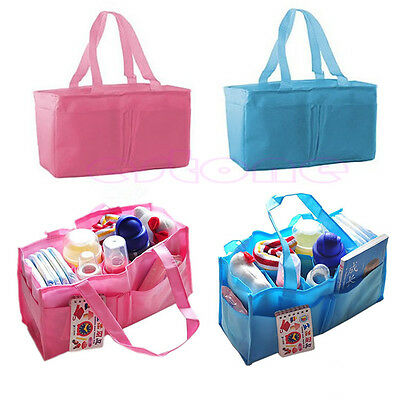 Baby Kids Outdoor Travel Diaper Nappy Divider Storage Organizer Handbag Tote Bag