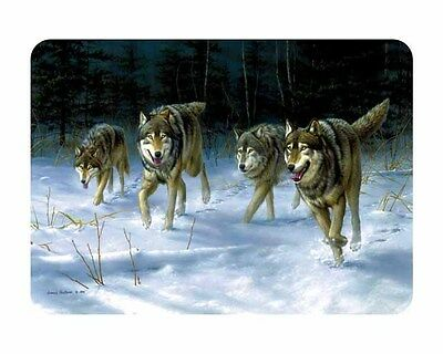 NEW Tuftop Glass Chopping Board Wild Wolves Grey Wolf Pack Kitchen Worktop Saver