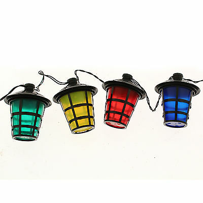 70 Multi Coloured Christmas / Party / Barbecue Lights Lantern Style Shade - 15m