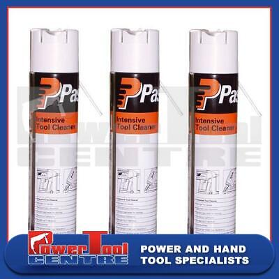 3x Paslode Impulse Intensive Tool Cleaner  Degreaser 300ml Cleaning Spray 115251