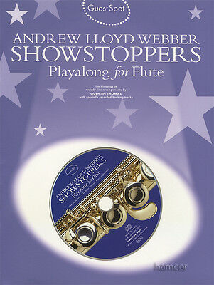 Andrew Lloyd Webber Showstoppers Playalong for Flute Music Book/CD Guest Spot