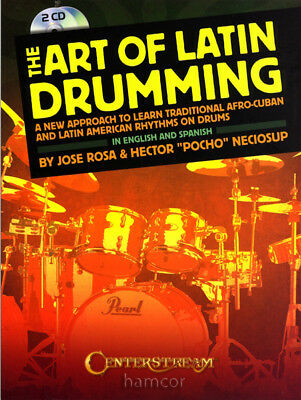 The Art of Latin Drumming Afro-Cuban & American Rhythms on Drums Music Book &2CD