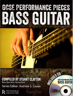 GCSE Performance Pieces Bass Guitar Exam Pop TAB Music Book/CD