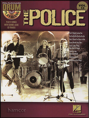 The Police-Drums Play-Along Volume 12 Drum Music Book & Backing Tracks CD