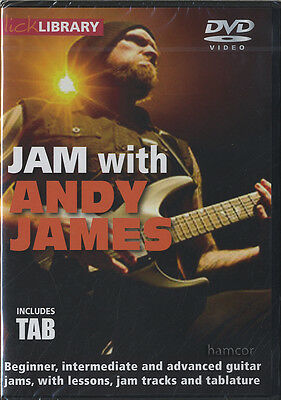 Jam with Andy James Lick Library Guitar DVD