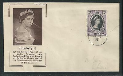 ST. HELENA  # 139 QUEEN ELIZABETH II CORONATION  First Day Cover (6133)