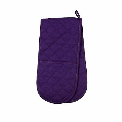 Now Designs Purple Double Oven Glove Mitt Quilted Insulated 100% Cotton New Cook
