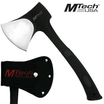 NEW! Mtech SOLID Heavy-Duty Stainless Steel Camping Axe Black Hatchet