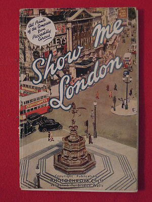 1950 Show Me London England Travel Booklet With Maps