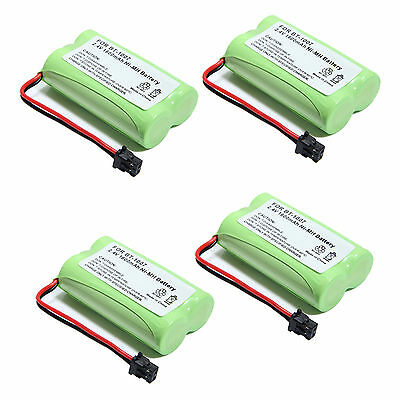 4PCS 2.4V 1600mAh NI-MH BT1007 BT-1007 For Uniden Home Cordless Phone Battery