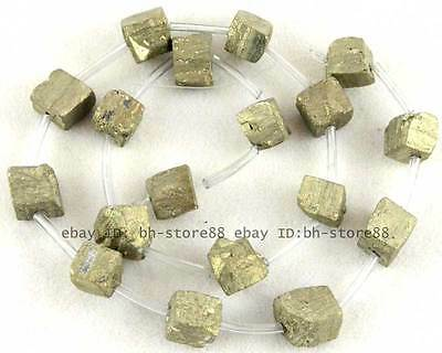 100% Natural 8-10mm Rough Freeform Pyrite Beads 15''