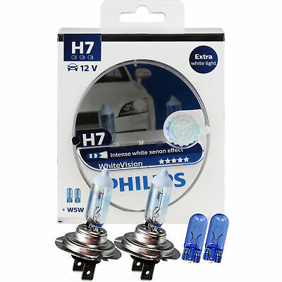 Philips WhiteVision 2x H7 12V 55W PX26d + 2x W5W xenon effect Birne Lampe