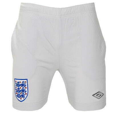 Boys England Woven Vapour Grey Kids FC Training Football Soccer Shorts Size