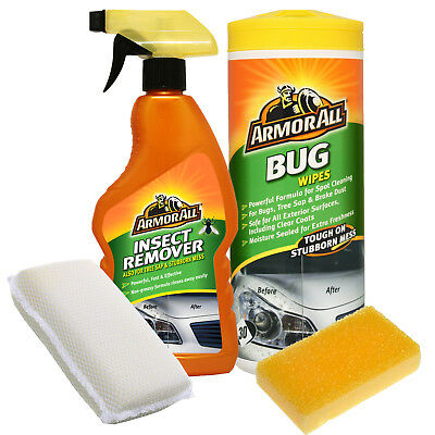 Armorall Insect Bug Tar Stubborn Stain Remover Cleaner + Wipes + Pad + Sponge
