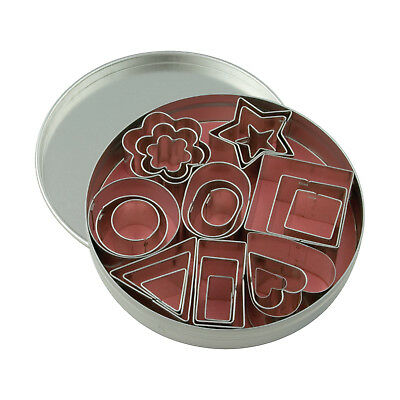 Swift Mini Cookie Cutter Set of 24 Geometric Shapes Biscuits Pastry Bake Cook