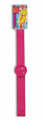 80's 80s Style Neon Hot Pink Belt Adult Costume Accessory NEW