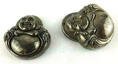 40x41mm Pyrite Buddha Head Pendant 1PCS
