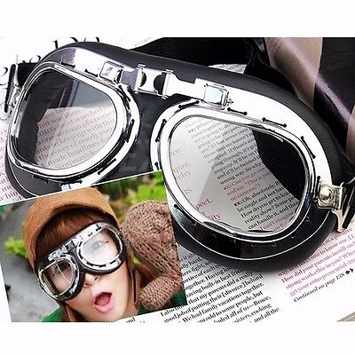 Motorcycle Scooter Flying Goggles Pilot Ski Cycling Goggle Motocross Glasses New