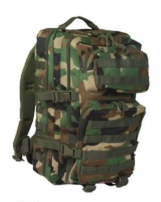 US ASSAULT DAYPACK Military Zaino Army Woodland Camouflage Large Pack