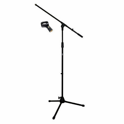 MS150 Professional Microphone Boom Stand Free Mic Clip Adjusts to 220cm High