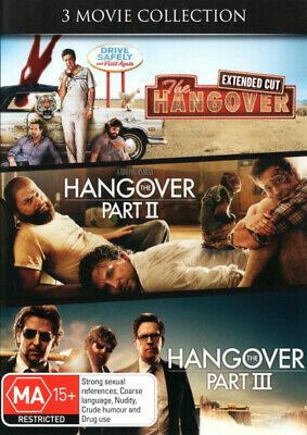 The Hangover 1 + 2 + 3 I II III Trilogy DVD R4 Brand New!