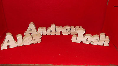 Handcrafted Personalized Wood Names- $5.00 per name