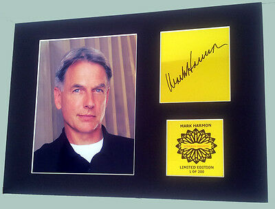Mark Harmon (Gibbs) NCIS  mounted quality signed 12 x  8 in limited edition