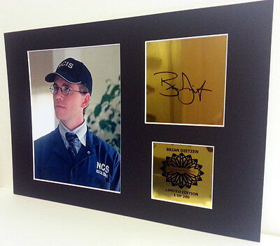 Brian Dietzen (Jimmy Palmer) NCIS mounted quality signed 12 x 8 in limited ed