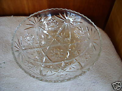 "Anchor Eapc ""star Of David"" 10 1/2"" Serving Bowl"