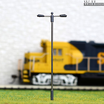 10 pcs HO Scale SMD LEDs made Model Lampposts height adjustable Long life #SD75D