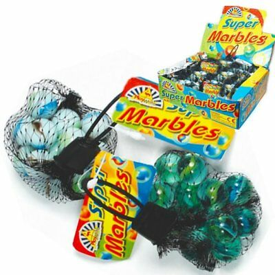 24 Childrens Kids Glass Marbles Balls Traditional Classic Toy Game