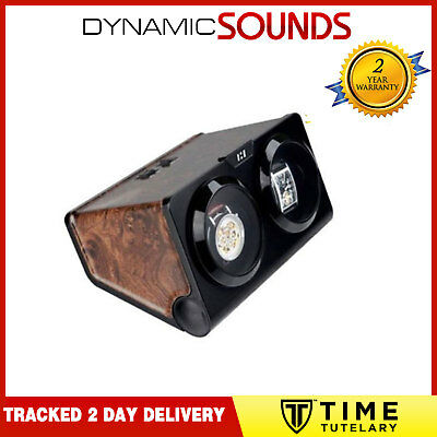 BURL and Black Dual Twin Double Watch Winder For Winding 2 Automatic KA002 BURL