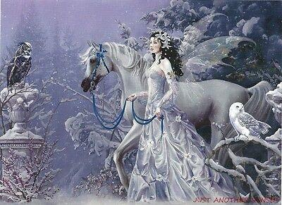 Nene Thomas Print 5x7 Lithograph Winter Wings Horse Snow Ice Fairy Faery NEW