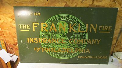 Antique Franklin Fire Insurance Sign