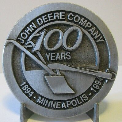 John Deere Plow Company Belt Buckle 100 Years Minneapolis 1894-1994 Limited Ed