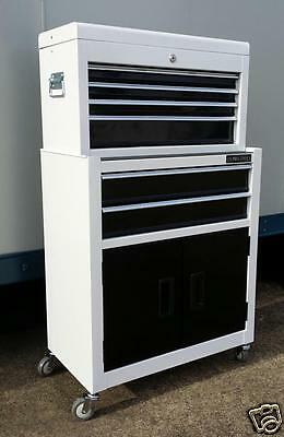 197 US PRO TOOLS WHITE AFFORDABLE TOOL CHEST ROLLCAB TOOL BOX ROLLER CABINET